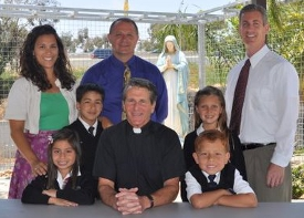 Fr. Bob with students